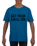 Get your grill on Black Kids T Shirt-T Shirts-Gildan-Royal Blue-YXS (3-5 Year)-Daataadirect