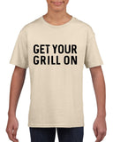 Get your grill on Black Kids T Shirt-T Shirts-Gildan-Sand-YXS (3-5 Year)-Daataadirect