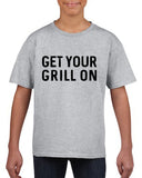 Get your grill on Black Kids T Shirt-T Shirts-Gildan-Sport Grey-YXS (3-5 Year)-Daataadirect