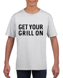 Get your grill on Black Kids T Shirt-T Shirts-Gildan-White-YXS (3-5 Year)-Daataadirect