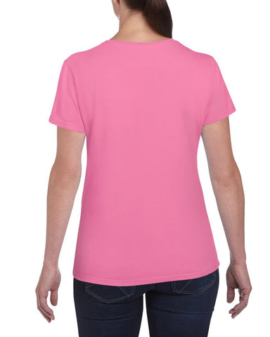 Gildan Ladies Heavy Cotton Missy Fit Tee Gildan Ladies T-Shirts 5000L-T Shirts-Gildan-Azalea-S-Daataadirect
