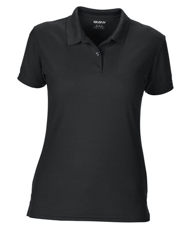 Gildan Performance Ladies Sport Shirt Gildan Ladies Polo Shirts 43800L-T Shirts-Gildan-Black-S-Daataadirect