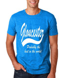 "GLOUCESTER Probably The Best City In The World Mens T Shirts White-T Shirts-Gildan-Antique Sapphire-S To Fit Chest 36-38"" (91-96cm)-Daataadirect"