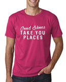 "Good shoes take you places Mens T Shirts White-T Shirts-Gildan-Heliconia-S To Fit Chest 36-38"" (91-96cm)-Daataadirect"