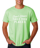 "Good shoes take you places Mens T Shirts White-T Shirts-Gildan-Mint Green-S To Fit Chest 36-38"" (91-96cm)-Daataadirect"