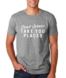 "Good shoes take you places Mens T Shirts White-T Shirts-Gildan-Sport Grey-S To Fit Chest 36-38"" (91-96cm)-Daataadirect"