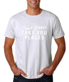 "Good shoes take you places Mens T Shirts White-T Shirts-Gildan-White-S To Fit Chest 36-38"" (91-96cm)-Daataadirect"
