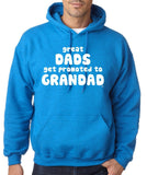 Great Dads Gets Promoted To Grandad Men Hoodies White-Gildan-Daataadirect.co.uk