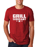 "Grill Sergeant White mens T Shirt-T Shirts-Gildan-Antique Cherry-S To Fit Chest 36-38"" (91-96cm)-Daataadirect"