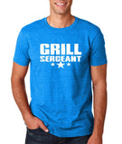"Grill Sergeant White mens T Shirt-T Shirts-Gildan-Antique Sapphire-S To Fit Chest 36-38"" (91-96cm)-Daataadirect"