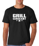 "Grill Sergeant White mens T Shirt-T Shirts-Gildan-Black-S To Fit Chest 36-38"" (91-96cm)-Daataadirect"