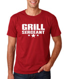 "Grill Sergeant White mens T Shirt-T Shirts-Gildan-Cardinal-S To Fit Chest 36-38"" (91-96cm)-Daataadirect"