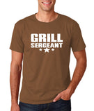 "Grill Sergeant White mens T Shirt-T Shirts-Gildan-Chestnut-S To Fit Chest 36-38"" (91-96cm)-Daataadirect"