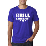 "Grill Sergeant White mens T Shirt-T Shirts-Gildan-Cobalt-S To Fit Chest 36-38"" (91-96cm)-Daataadirect"