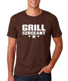 "Grill Sergeant White mens T Shirt-T Shirts-Gildan-Dk Chocolate-S To Fit Chest 36-38"" (91-96cm)-Daataadirect"