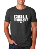 "Grill Sergeant White mens T Shirt-T Shirts-Gildan-Dk Heather-S To Fit Chest 36-38"" (91-96cm)-Daataadirect"