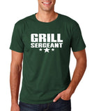 "Grill Sergeant White mens T Shirt-T Shirts-Gildan-Forest Green-S To Fit Chest 36-38"" (91-96cm)-Daataadirect"