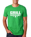 "Grill Sergeant White mens T Shirt-T Shirts-Gildan-Heather Irish Green-S To Fit Chest 36-38"" (91-96cm)-Daataadirect"