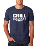 "Grill Sergeant White mens T Shirt-T Shirts-Gildan-Heather Navy-S To Fit Chest 36-38"" (91-96cm)-Daataadirect"