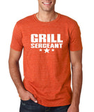 "Grill Sergeant White mens T Shirt-T Shirts-Gildan-Heather Orange-S To Fit Chest 36-38"" (91-96cm)-Daataadirect"