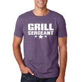 "Grill Sergeant White mens T Shirt-T Shirts-Gildan-Heather Purple-S To Fit Chest 36-38"" (91-96cm)-Daataadirect"