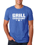 "Grill Sergeant White mens T Shirt-T Shirts-Gildan-Heather Royal-S To Fit Chest 36-38"" (91-96cm)-Daataadirect"