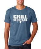 "Grill Sergeant White mens T Shirt-T Shirts-Gildan-Indigo Blue-S To Fit Chest 36-38"" (91-96cm)-Daataadirect"