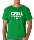 "Grill Sergeant White mens T Shirt-T Shirts-Gildan-Irish Green-S To Fit Chest 36-38"" (91-96cm)-Daataadirect"