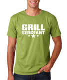 "Grill Sergeant White mens T Shirt-T Shirts-Gildan-Kiwi-S To Fit Chest 36-38"" (91-96cm)-Daataadirect"