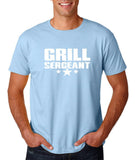 "Grill Sergeant White mens T Shirt-T Shirts-Gildan-Light Blue-S To Fit Chest 36-38"" (91-96cm)-Daataadirect"