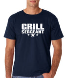 "Grill Sergeant White mens T Shirt-T Shirts-Gildan-Navy Blue-S To Fit Chest 36-38"" (91-96cm)-Daataadirect"