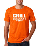 "Grill Sergeant White mens T Shirt-T Shirts-Gildan-Orange-S To Fit Chest 36-38"" (91-96cm)-Daataadirect"