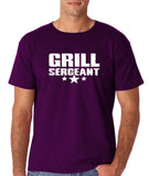 "Grill Sergeant White mens T Shirt-T Shirts-Gildan-Purple-S To Fit Chest 36-38"" (91-96cm)-Daataadirect"