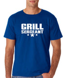 "Grill Sergeant White mens T Shirt-T Shirts-Gildan-Royal Blue-S To Fit Chest 36-38"" (91-96cm)-Daataadirect"