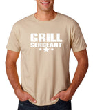 "Grill Sergeant White mens T Shirt-T Shirts-Gildan-Sand-S To Fit Chest 36-38"" (91-96cm)-Daataadirect"