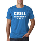 "Grill Sergeant White mens T Shirt-T Shirts-Gildan-Sapphire-S To Fit Chest 36-38"" (91-96cm)-Daataadirect"