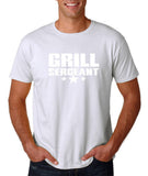 "Grill Sergeant White mens T Shirt-T Shirts-Gildan-White-S To Fit Chest 36-38"" (91-96cm)-Daataadirect"