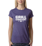 Grill sergeant White Womens T Shirt-Gildan-Daataadirect.co.uk