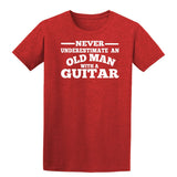[daataadirect.co.uk]-Guitar Never Underestimate An Old Man Mens T-Shirt-t-shirts-Gildan-Antique Cherry Red-S-Daataadirect