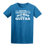 [daataadirect.co.uk]-Guitar Never Underestimate An Old Man Mens T-Shirt-t-shirts-Gildan-Antique Sapphire-S-Daataadirect