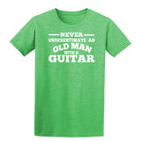 [daataadirect.co.uk]-Guitar Never Underestimate An Old Man Mens T-Shirt-t-shirts-Gildan-Heather Irish Green-S-Daataadirect
