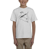 Guitar seabird Black Kids T Shirt-Gildan-Daataadirect.co.uk