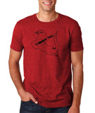 "Guitar seabird Mens T Shirts Black-T Shirts-Gildan-Antique Cherry-S To Fit Chest 36-38"" (91-96cm)-Daataadirect"