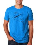 "Guitar seabird Mens T Shirts Black-T Shirts-Gildan-Antique Sapphire-S To Fit Chest 36-38"" (91-96cm)-Daataadirect"