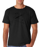 "Guitar seabird Mens T Shirts Black-T Shirts-Gildan-Black-S To Fit Chest 36-38"" (91-96cm)-Daataadirect"