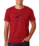 "Guitar seabird Mens T Shirts Black-T Shirts-Gildan-Cardinal-S To Fit Chest 36-38"" (91-96cm)-Daataadirect"