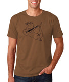 "Guitar seabird Mens T Shirts Black-T Shirts-Gildan-Chestnut-S To Fit Chest 36-38"" (91-96cm)-Daataadirect"