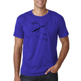 "Guitar seabird Mens T Shirts Black-T Shirts-Gildan-Cobalt-S To Fit Chest 36-38"" (91-96cm)-Daataadirect"