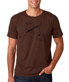 "Guitar seabird Mens T Shirts Black-T Shirts-Gildan-Dk Chocolate-S To Fit Chest 36-38"" (91-96cm)-Daataadirect"