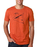 "Guitar seabird Mens T Shirts Black-T Shirts-Gildan-Heather Orange-S To Fit Chest 36-38"" (91-96cm)-Daataadirect"